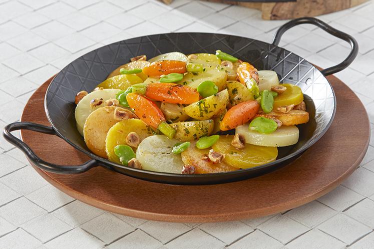 Sausages Dutch style met seizoensgroenten