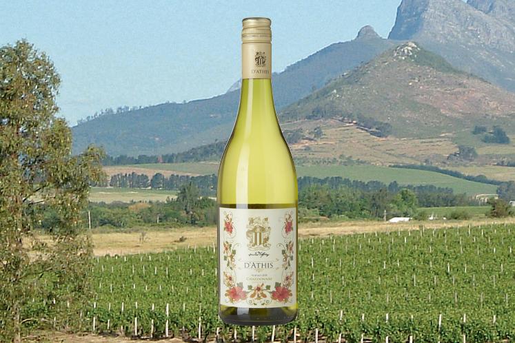 Zuid-afrikaanse wijn   Leidersburg D'athis unwooded chardonnay