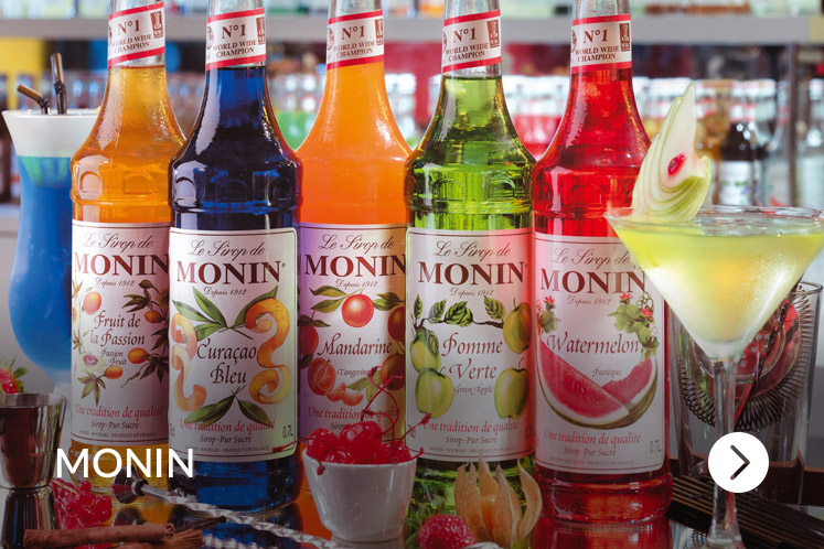 Monin fruitpurees en fruitsiropen