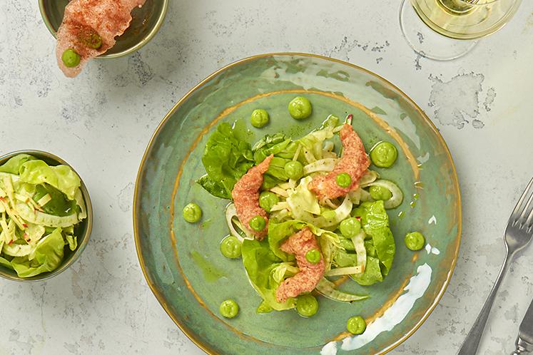 Salade passie en koriander