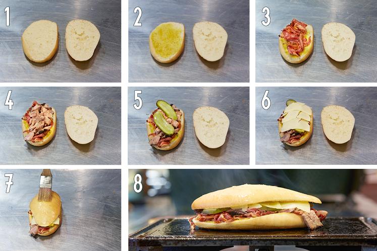 Opbouw Cuban sandwich | HANOS