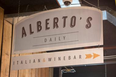 De kaart van Alberto's Italian