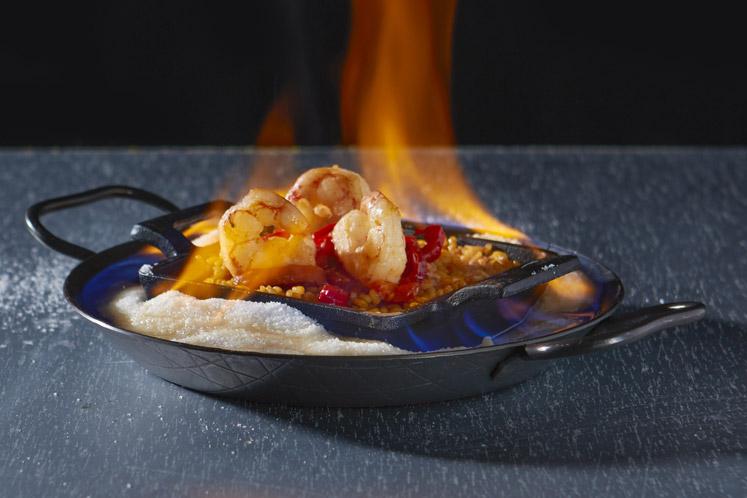 Flaming spicy gamba