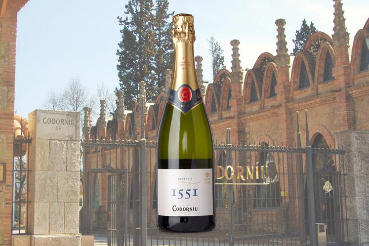 Cava Codorníu 1551 Brut   Mousserende wijnen