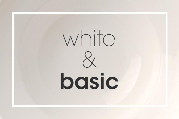 Tableware | Servies en porselein | White Basic