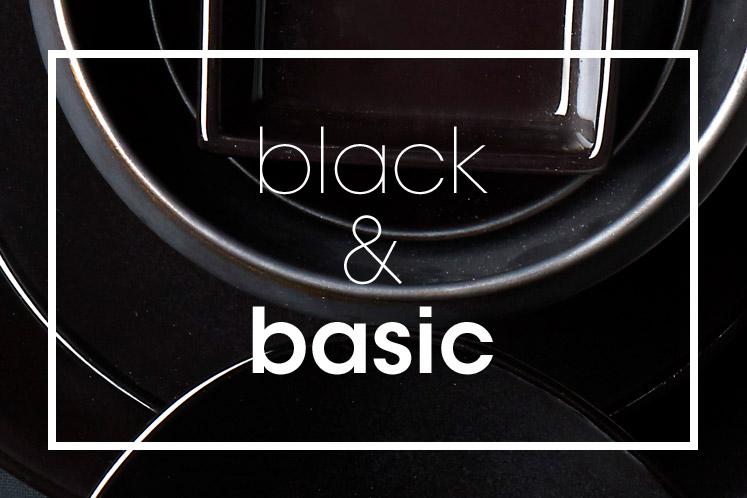 Tableware | Servies en porselein | Black Basic