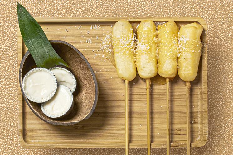 Saté van ananas