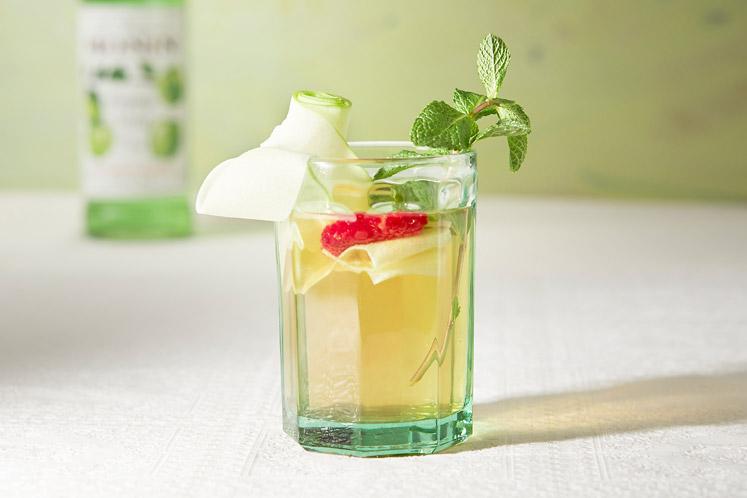 Groene thee en appel