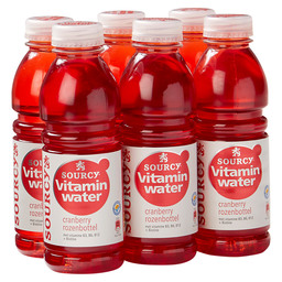 VITAMIN WATER 50CL CRANB. ROZENBOTTEL