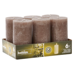 BLOCK CANDLE RUSTIC TAUPE 130/68