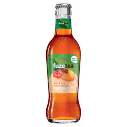 FUZE TEA BLACK PEACH HIBISCUS GLAS 0,2L
