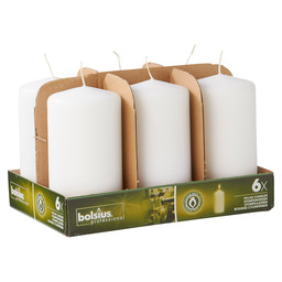 PILLAR CANDLES 15/8 TR6 WHITE