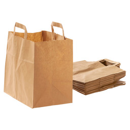 CARRIER BAG BROWN PAPER 26X17X25CM