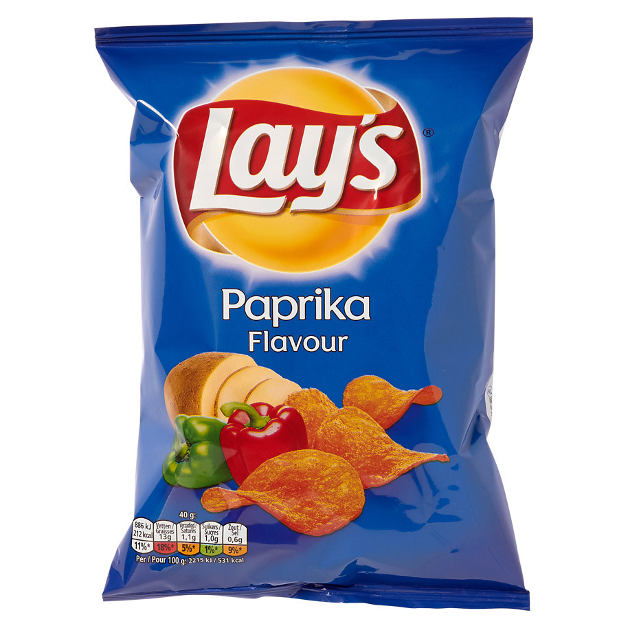 CHIPS PAPRIKA 40 GR LAY'S