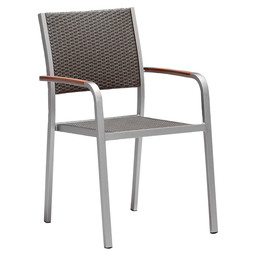 STOCKHOLM ARMCHAIR TAUPE BRUSHED ALU