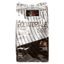 FEVES EQUA.NOIR 55% VALRHONA