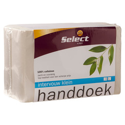 TOWEL 24X21,6CM INTERVW WHITE *SELECT*