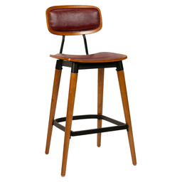 STUDO BARSTOOL - ART.LEATHER BORDEAUX
