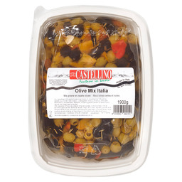 OLIVES ITALY MIX WITH RED PAPRIKA