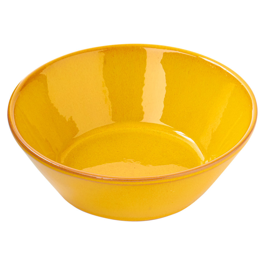 BOWL CONICAL  Ø15 X 5 CM MUSTARD