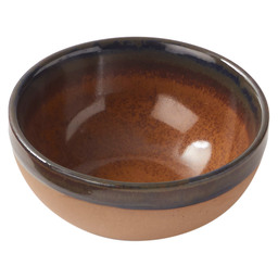 BOWL SURFACE 9X4CM GREY/RUSTBROWN