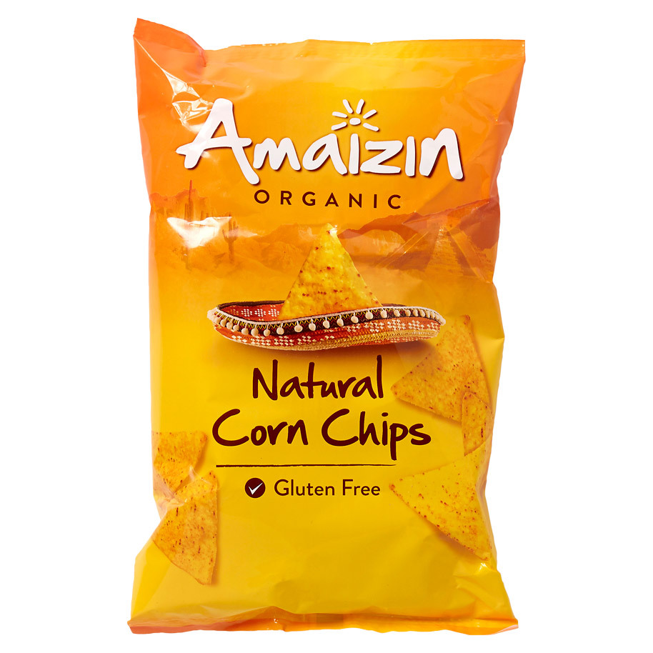 CORN CHIPS NATURAL AMAIZIN BIOLOGIC