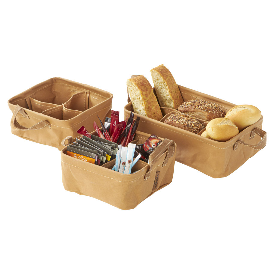 TEABOX 4X S BROWN WASHABLE PAPER 16X16X7