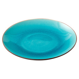 PLATE ASIA D26 CM TURQUOISE/BLACK