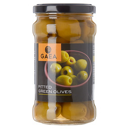 PITTED GREEN OLIVES IN BRINE
