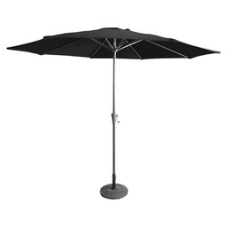 PATIO UMBRELLA PISA GREY/BLACK