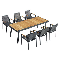 204370 CHAMPION DINING SET 7 PCS SUNBR.