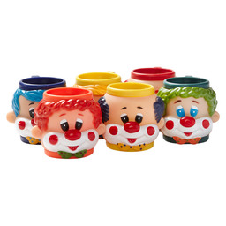 KINDERIJSBEKER MET  HANDVAT CLOWN ASS.