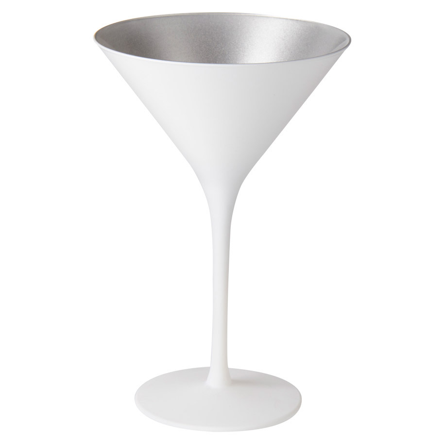 COCKTAIL GLASS OLYMPIC 24CL WHITE/SILVER