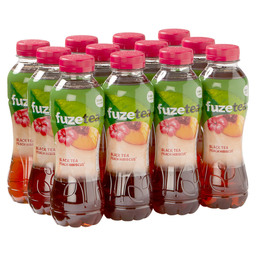 FUZE TEA BLACK PEACH HIBISCUS PET 0,4L