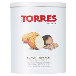 POTATO CHIPS WITH BLACK TRUFFLE AND TRUF