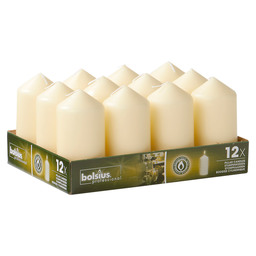 PILLAR CANDLES 12/6 TR12 IVORY