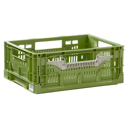 FOLDABLE CRATE HEAVY 40X30X16 GREEN