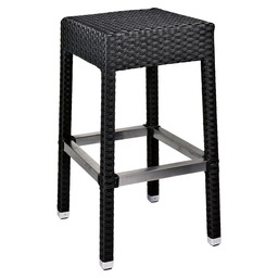 MEZZA BAR STOOL BLACK 5X5 BLACK