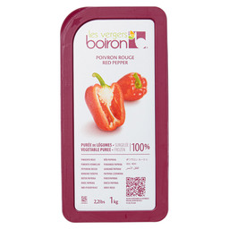FROZEN FRUIT PUREE RED PEPPER 100%