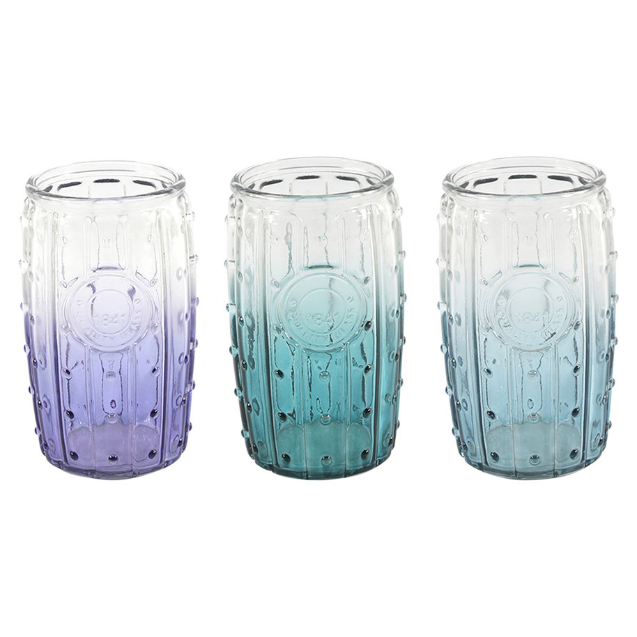 GLASS CUP 3 COLOR ASS