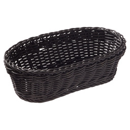 BASKET OVAL BLACK 28X16X8 CM
