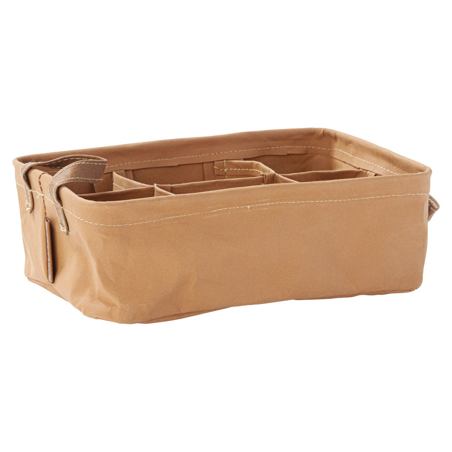TEABOX 6X L BROWN WASHABLE PAPER 24X16X7