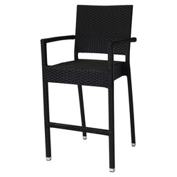 MEZZA-A BARSTOOL + BACK BLACK - 5X5