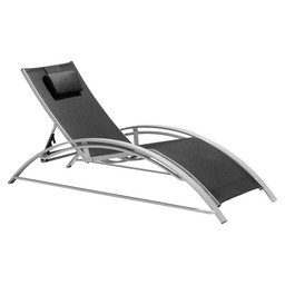 MAXUS SUNLOUNGER SILVER-TAUPE TEXTYLENE