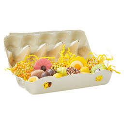EGG BOX SPRING CHOCOLATE