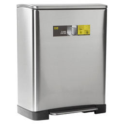 E-CUBE RECYCLE STEP BIN 18+28L MAT RVS