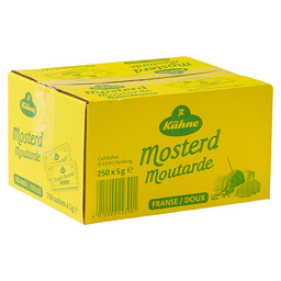 MOSTERD FRANSE 250X5GR SACHETS KUHNE