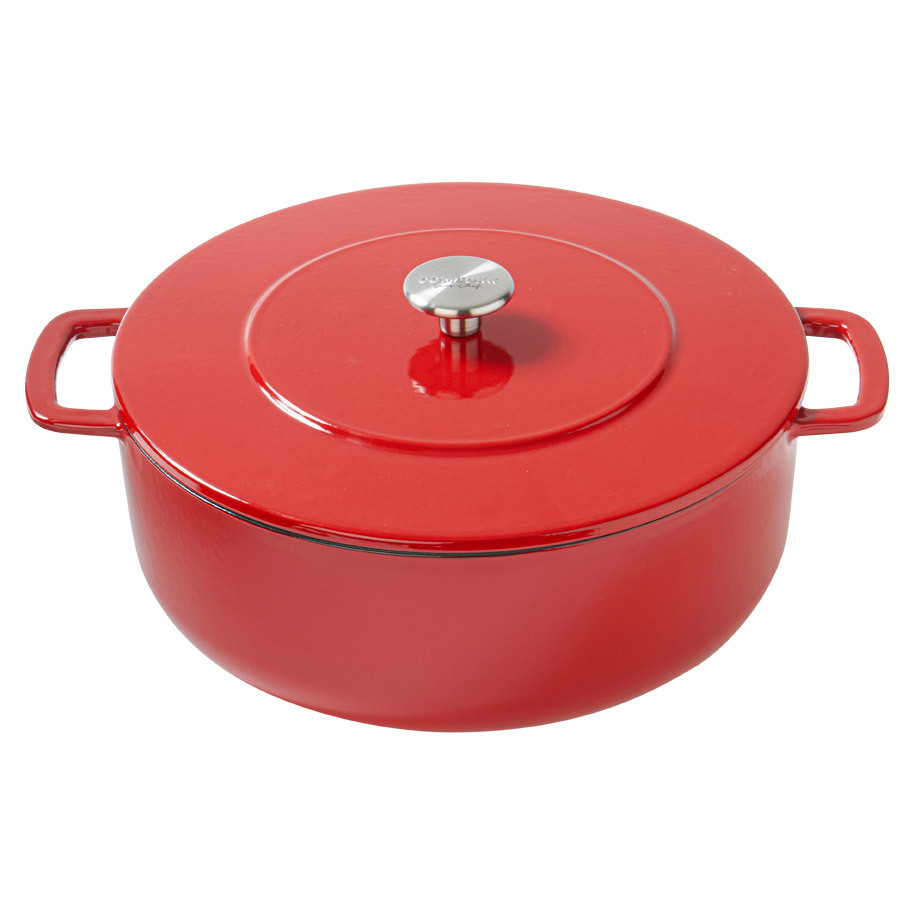 BRAADPAN SOUS-CHEF DUTCH OVEN 28CM ROOD