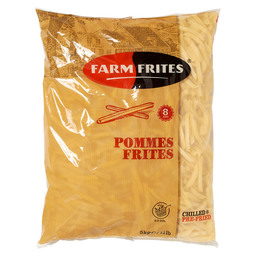 FRITES CHILLED 8MM  2X5KG