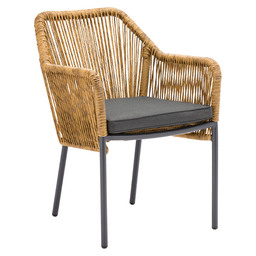 BALERIC ARMCHAIR - CHARCOAL/GREY